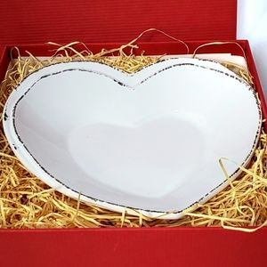 Vietri Lastra Heart Dish Signed Special Edition